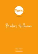 Halloween Border Template