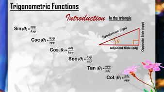 Trigonometric Functions - Introduction