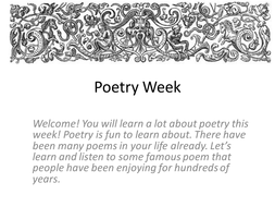 Poetry Centers: Central Message and Other Skills