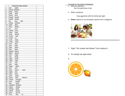 homophone Index Project.doc