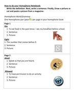Make a Homophone Notebook