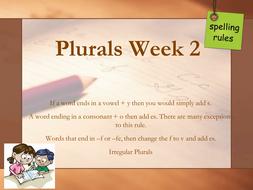 Spelling Plurals Week 2.pptx