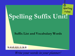Spelling Suffixes ship full less ness.ppt