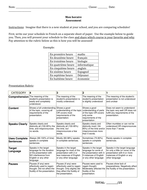Mon horaire - Describing your school schedule