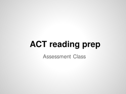 ACT Reading test overview