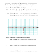 Slope - Parallel and Perpendicular through Polygon