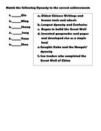 Ancient China Map & Dynasty Quiz
