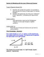 Cosine of an Obtuse angle and other modeling