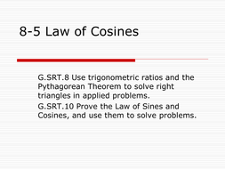 CCSS Law of Cosines Project