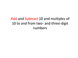 Math3_Week19_Day1_Add and Subtract 10 and multiples of 10.pptx