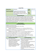 Lesson Plan Ionic and Covalent bonds