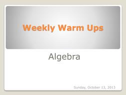CCSS weekly warm ups