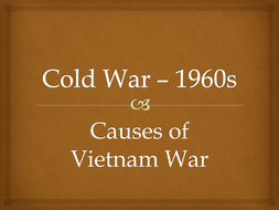 Cold War - Vietnam Origins