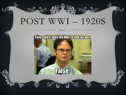 Post WWI powerpoint
