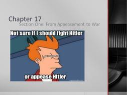Appeasement to War