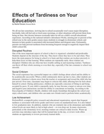 Effects of Tardiness on Your Education.docx