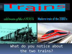 Trains Old and New by Joey, Herman, and Justin