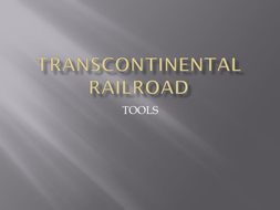 Tools on the Railroad by John and Jake