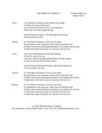LYRIC SHEET - THE SPIRIT OF AMERICA.pdf
