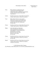 LYRIC SHEET - ONE HEART, ONE VOICE.pdf