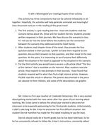 To Kill a Mockingbird - pre-reading/chapter 3 ex.