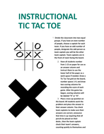 Instructional Tic-Tac-Toe for Skills Practice