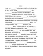 Lipids Cloze reading.docx
