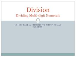 Using base ten blocks for division