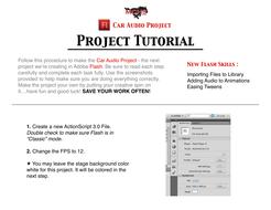 Car Audio Project -- Flash