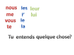 Direct and Indirect Object Pronoun Replacement