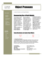 Direct and Indirect Object Newspaper