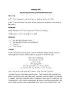 Baa Baa Black Sheep Color ID book