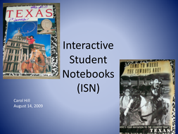 Interactive Student Notebook aka ISN