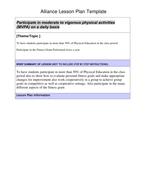 Fittness Gram And Assessment Exercise