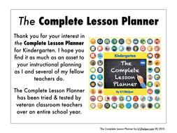 a digital lesson planner for Kindergarten teachers