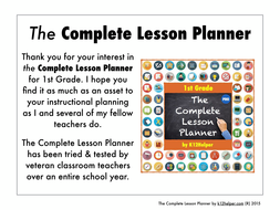 1st grade lesson plan template all subjects by k12helper teaching
