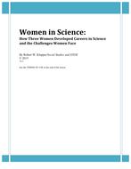 Women in Science:  Three Women, Three Careers