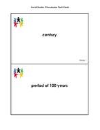 Social Studies Grade 3 Vocabulary Cards
