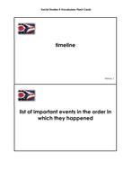 Social Studies Grade 4 Vocabulary Cards