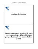 Social Studies Grade 5 Vocabulary Cards