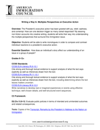 Writing a Way In: Perspectives on Executive Action