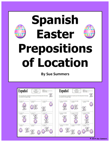 Spanish easter prepositions of easter bunny and egg el for What is the easter bunny s phone number