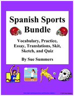 Spanish Sports Bundle - Vocabulary, Practice, Skits, Quiz, and More!