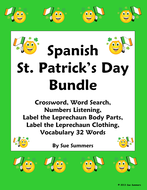 Spanish St. Patrick's Day Bundle - Practice, Listening and Vocabulary