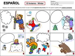Spanish Winter Speech Bubble Creative Writing