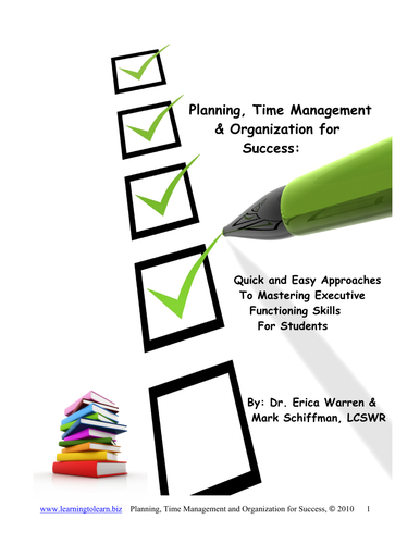 Top Resolutions: Planning, Time Management and Organization for Success