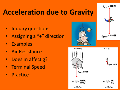 Acceleration due to Gravity Physics PowerPoint Lesson Notes by – Acceleration Due to Gravity Worksheet