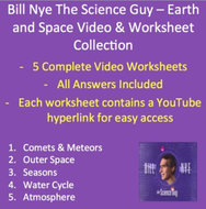 bill nye video worksheets five earth and space worksheet collection by teachwithfergy. Black Bedroom Furniture Sets. Home Design Ideas