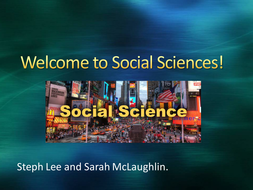 Ice-Breaker/Welcome to Social Sciences