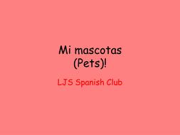 Mi Mascotas (Pets) Spanish Club